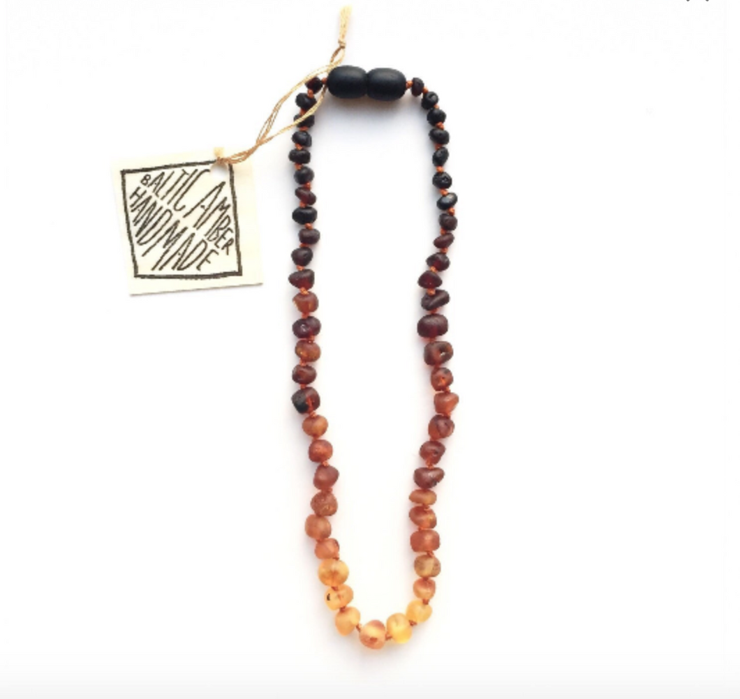 Raw Amber + Ombre || Necklace