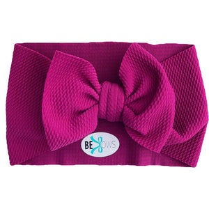 Headwrap Bow, raspberry