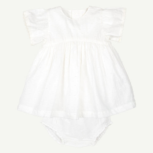 White Woven Dress Set