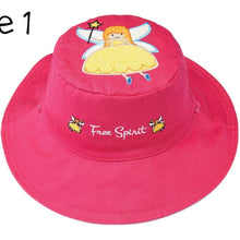 Load image into Gallery viewer, Reversible Kids' Sun Hat - Fairy / Unicorn