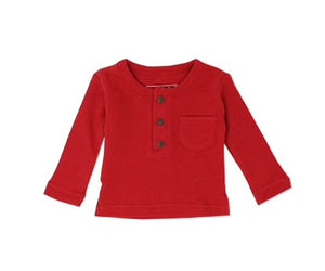 Organic Thermal L/Sleeve Shirt in Ruby
