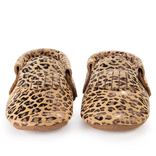 Leopard Baby Moccasins