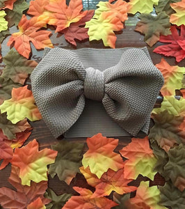 Headwrap Bow, taupe
