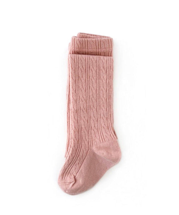 BLUSH PINK CABLE KNIT TIGHTS Regular price $10.50