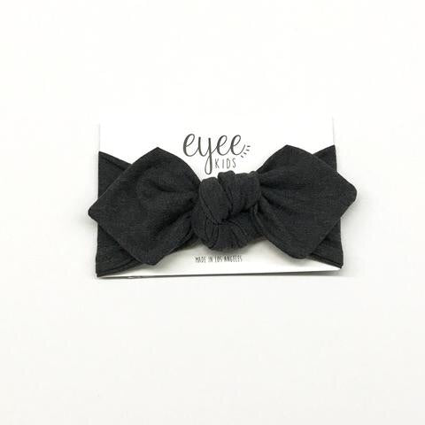 Top Knot Headband- Charcoal Grey