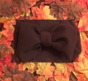 Headwrap Bow, Brown