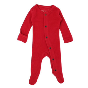 Organic Thermal Jumpsuit in Cherry