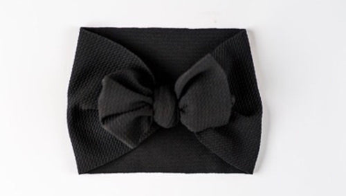 Headwrap Bow, Blsck