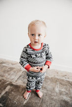 Load image into Gallery viewer, Organic Holiday Footie & Cap Set, XOXO Fair Isle
