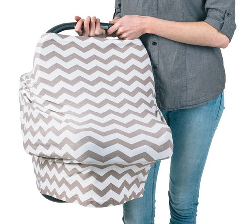 Grey Chevron Carseat Cover