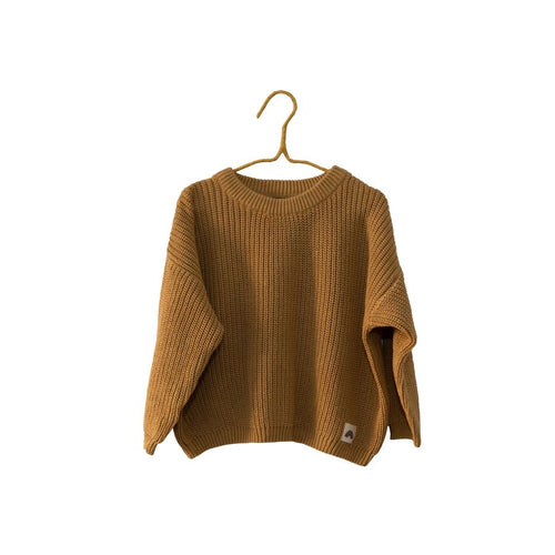 Oversized Cotton Knits -Caramel