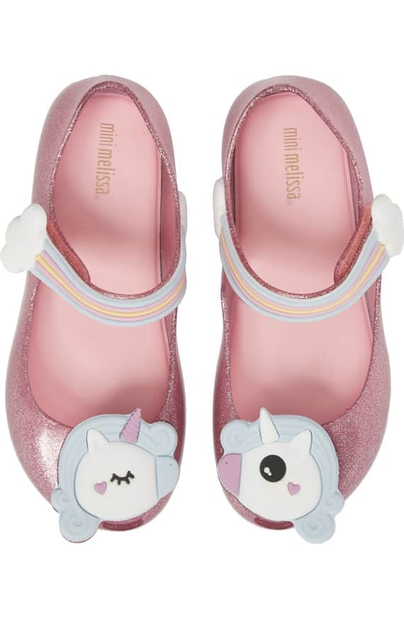 Ultragirl Unicorn Glittery Mary Jane Flat