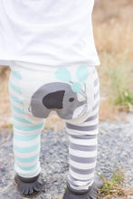 Load image into Gallery viewer, Blue Elephant Cotton Leggings