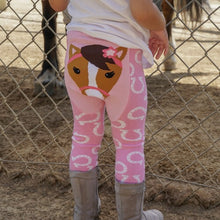 Load image into Gallery viewer, Pink Horse Cotton Leggings
