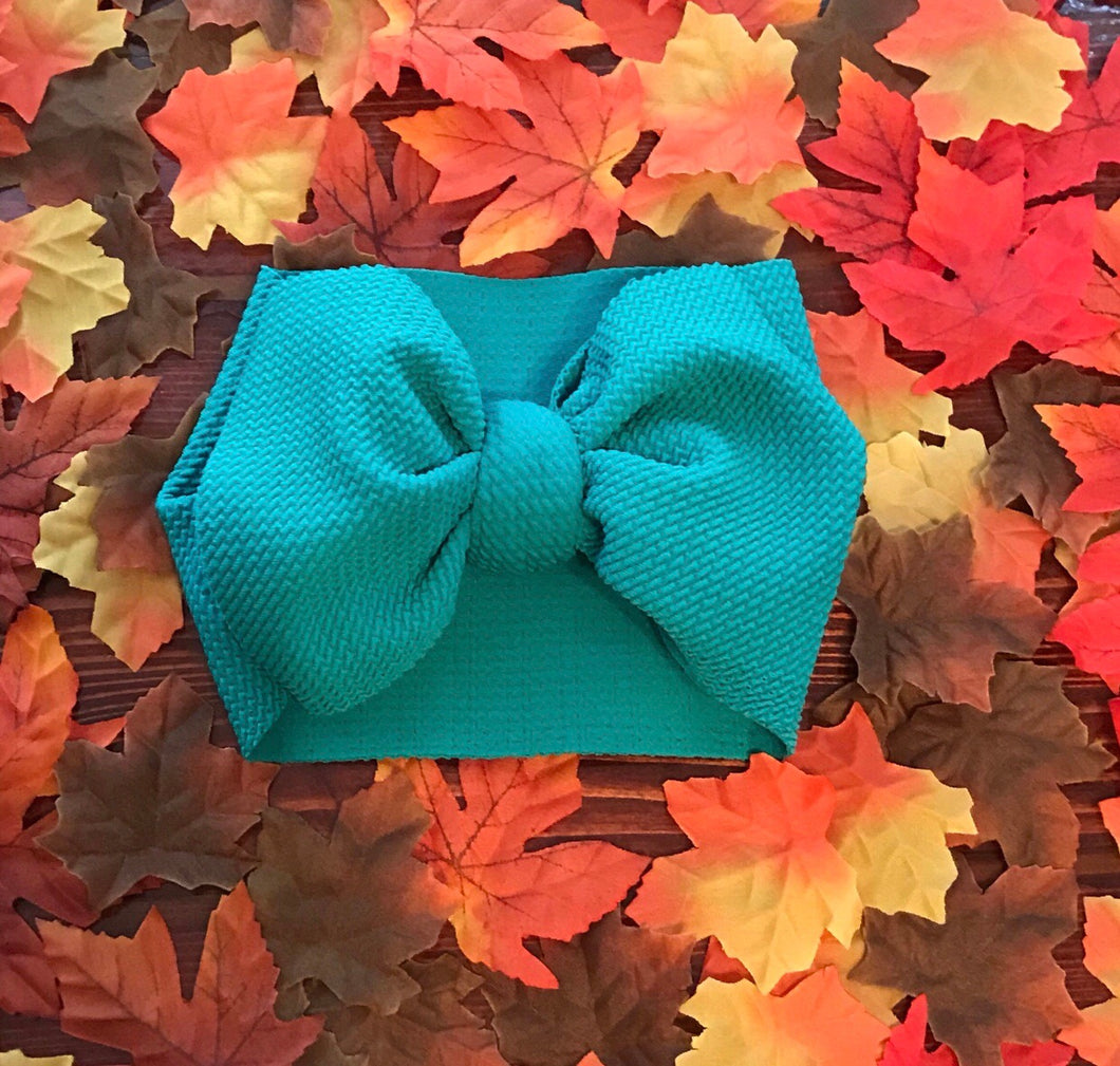 Headwrap Bow in Topaz