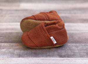 Trendy Baby Mocc Shop - Copper Felt Loafers