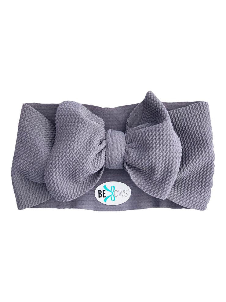 Headwrap Bow, Slate