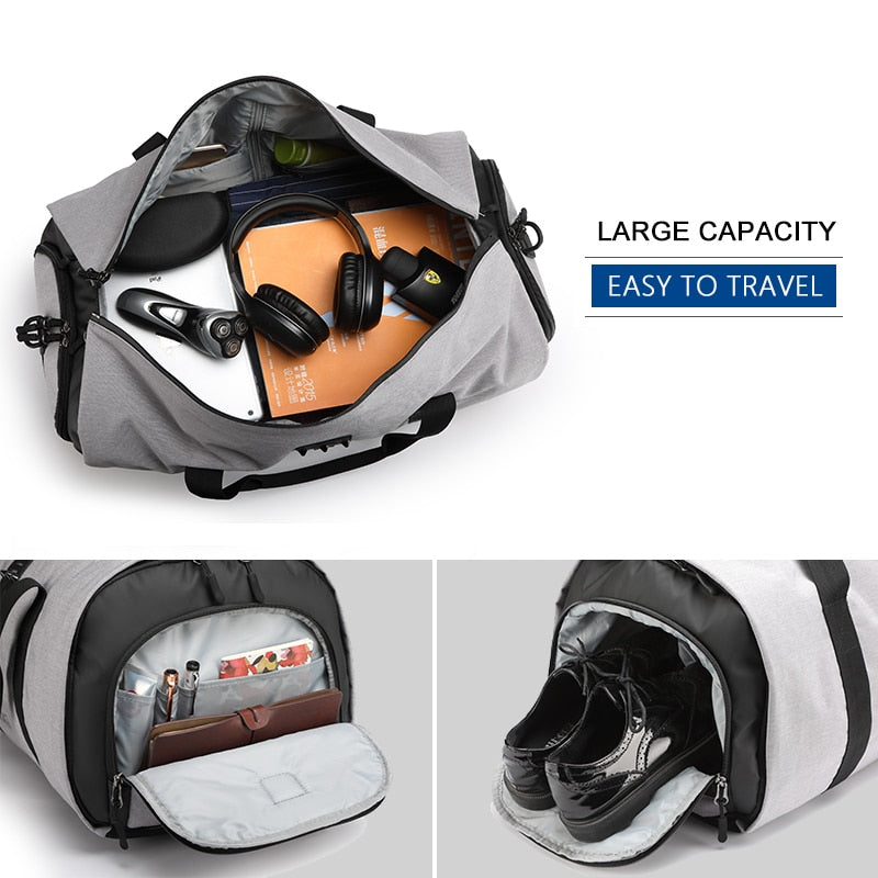 f9a23b289ed2 (The Suited Up) Multifunction Large Capacity Men Travel Bag Waterproof for  Suit storage and more