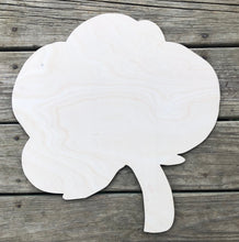 "Load image into Gallery viewer, 19"" Cotton Boll Door Hanger Wood Cutout"