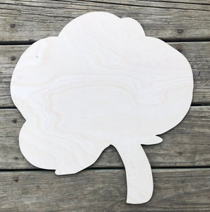 "19"" Cotton Boll Door Hanger Wood Cutout"