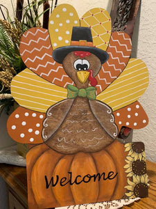 Turkey with Sign Cut Out - 19""