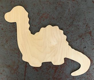 "24"" Long Neck Dinosaur Wood Cutout"