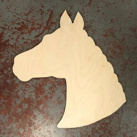 "20"" x 19.5 "" Horse Head Wood Cutout"
