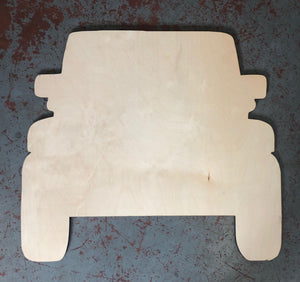 "15"" Off Road Vehicle Door Hanger Wood Cutout"