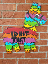 "Load image into Gallery viewer, 22"" x 19.5"" Donkey Pinata Wood Cutout Door Hanger"
