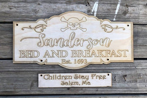 Sanderson Sign Wood Cutout