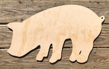 "Load image into Gallery viewer, 24"" Pig Wood Cutout"