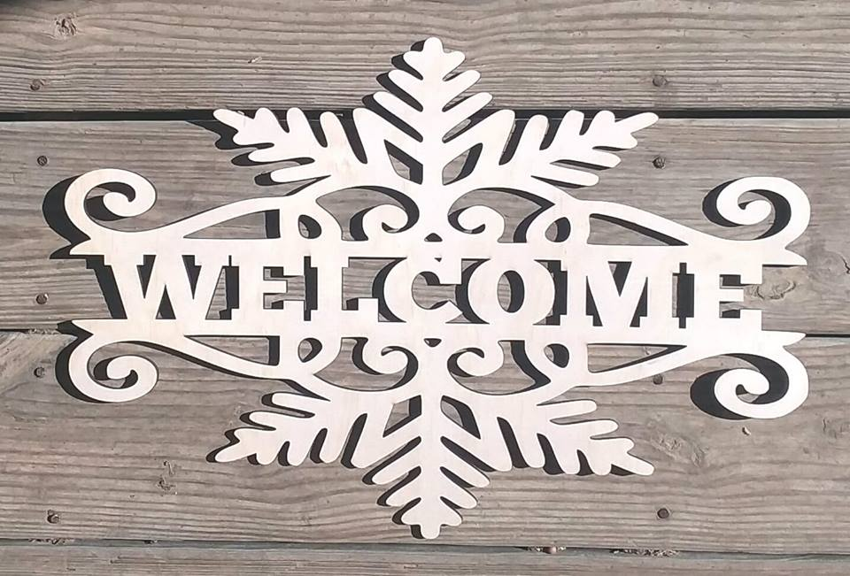 Welcome Snowflake Cutout