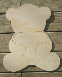 Heart Bear Cutout