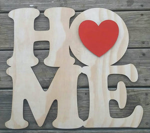 "19"" HOME Sign For Interchangeable Shapes Door Hanger Wood Cutout"