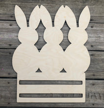 "Load image into Gallery viewer, 20"" bunny trio with rails"