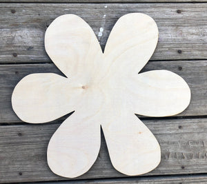"19"" Whimsical Flower Wood Cut Out Door Hanger"