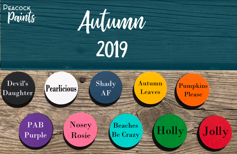 Fall 2019 Paint Colors- 4 Oz Bottles
