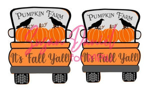 Whimsy Truck Back Fall SVG Cut Template- DIGITAL FILE ONLY
