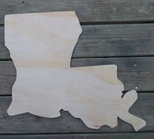 Load image into Gallery viewer, 22'' State of Louisiana Wood Cut Out Door Hanger