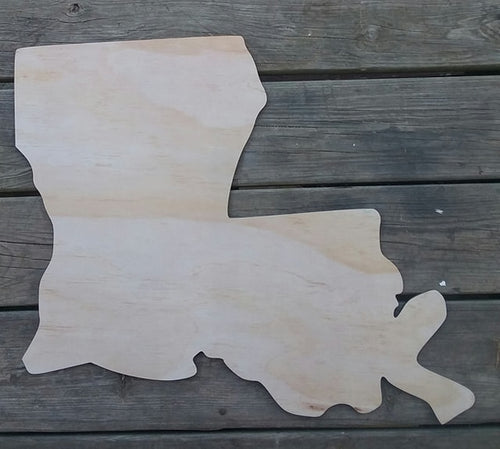 22'' State of Louisiana Wood Cut Out Door Hanger