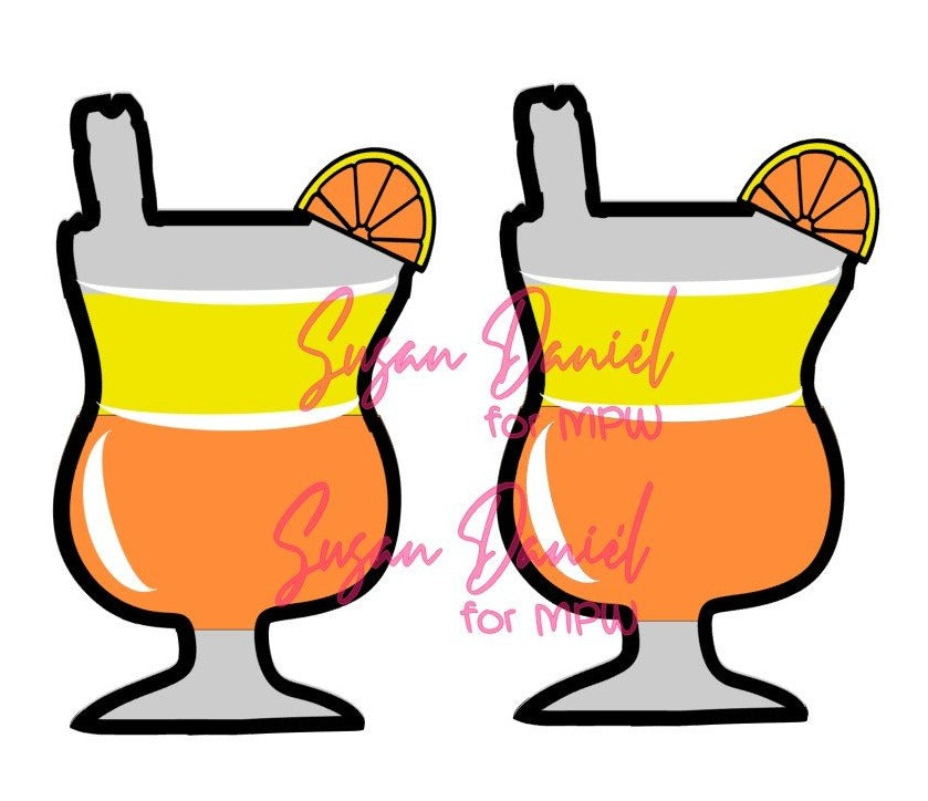 Hurricane Glass SVG Cut Template- DIGITAL FILE ONLY