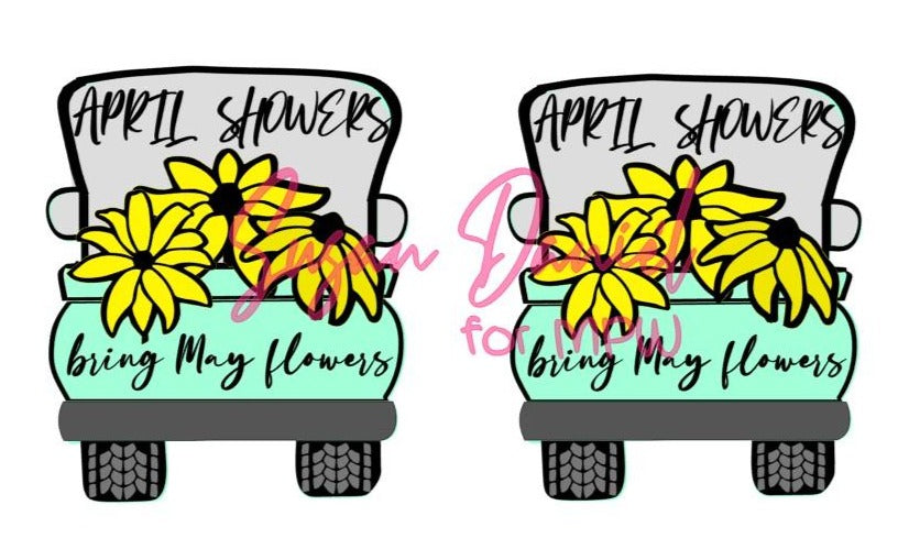 Whimsy Truck Back Spring SVG Cut Template- DIGITAL FILE ONLY