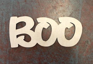 "BOO Word Cutout for 15"" Rounds"