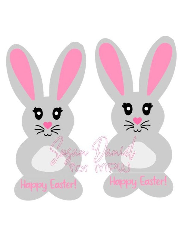 Bunny With Stand SVG Cut File and Template- DIGITAL FILE ONLY