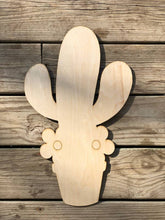 Load image into Gallery viewer, Cactus In Pot Wood Cutout