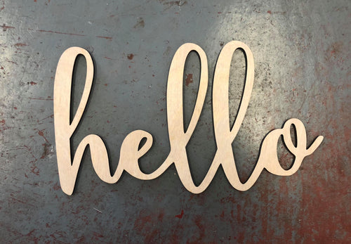 Hello Word Cutout for 15