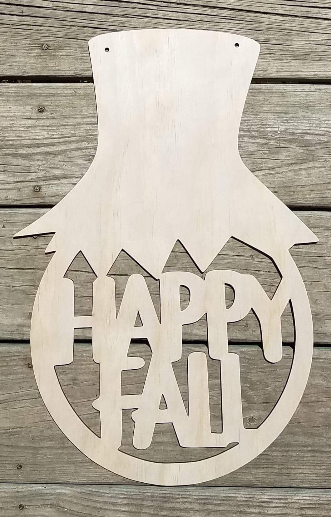 "19"" x 13.5"" Happy Fall Scarecrow Cut Out"