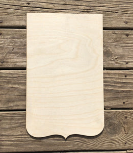 "17"" Scroll Bottom Square Wood Cut Out"