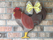 "Load image into Gallery viewer, 19"" Rooster Door Hanger Wood Cutout"
