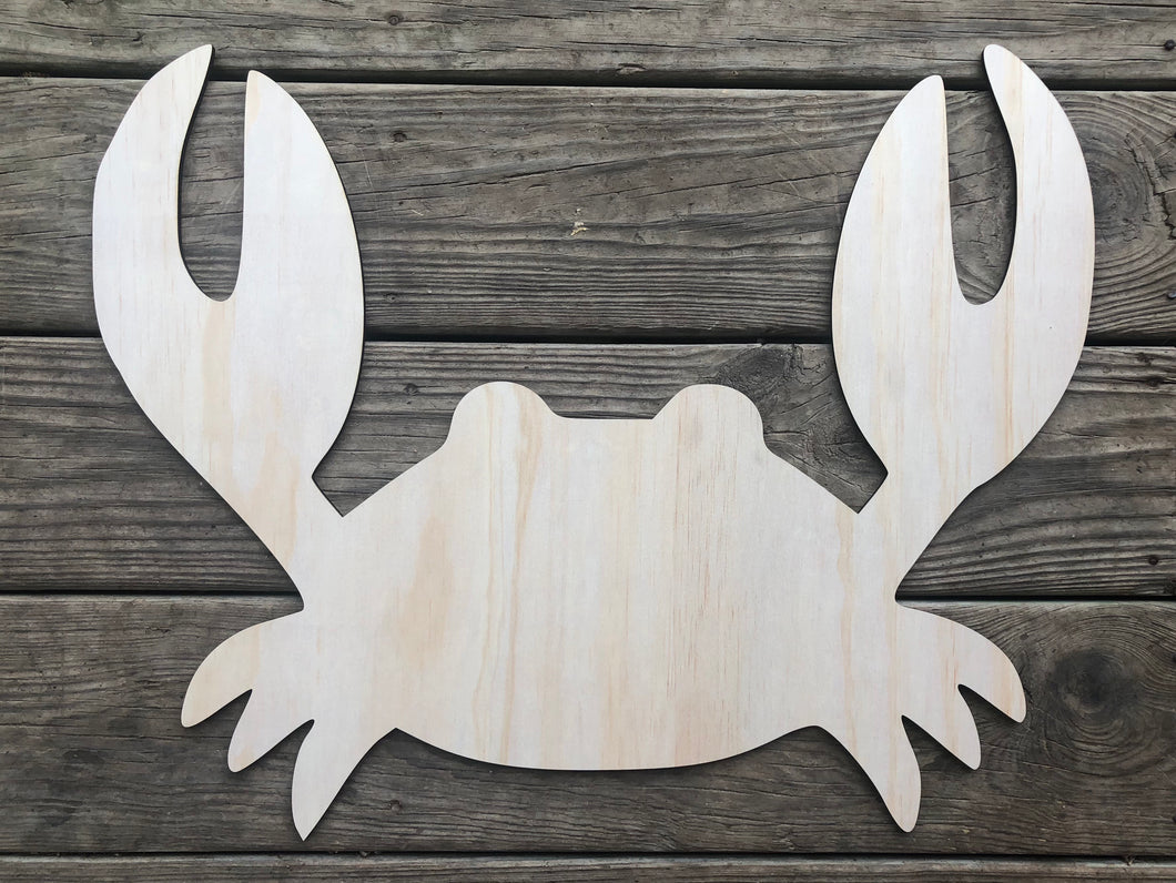 "19"" Crab Wooden Door Hanger"